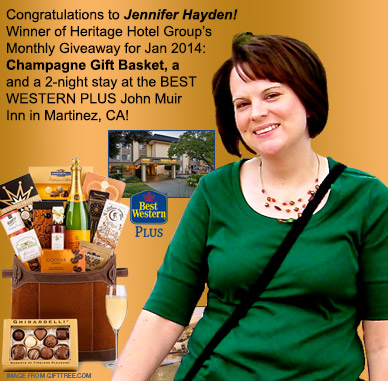 photo of jennifer hayden, winner of heritage hotel group monthly giveaway winner