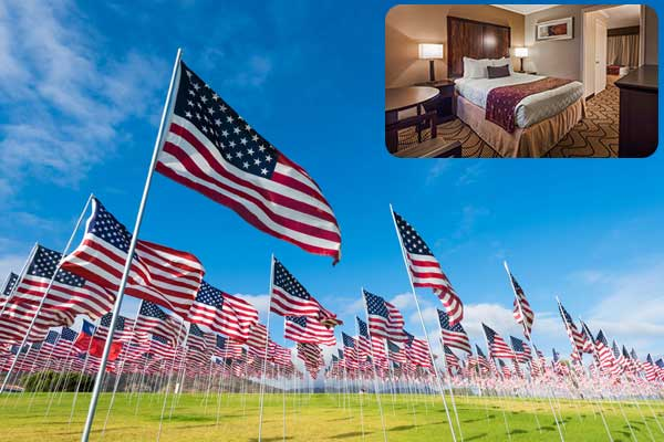Memorial Day discount hotel in Roseville CA
