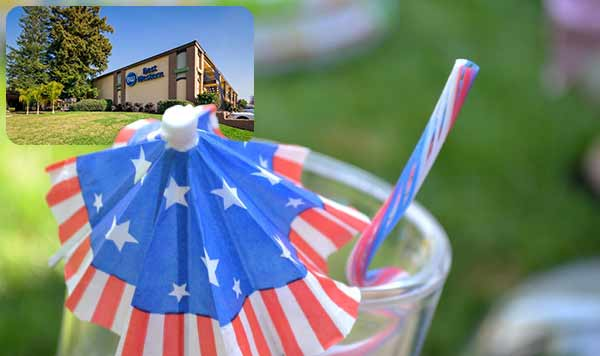 Red, White and Blue Saving deal hotel in Roseville CA