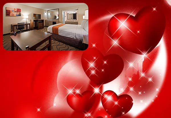 Valentine Special deal hotel in Roseville CA