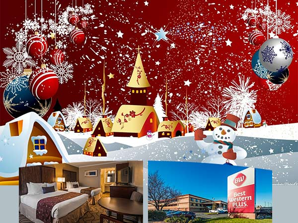 Christmas special upgrade for hotel in Roseville CA