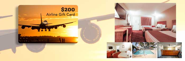 airline gift card prize for heritage hotel group monthly giveaway